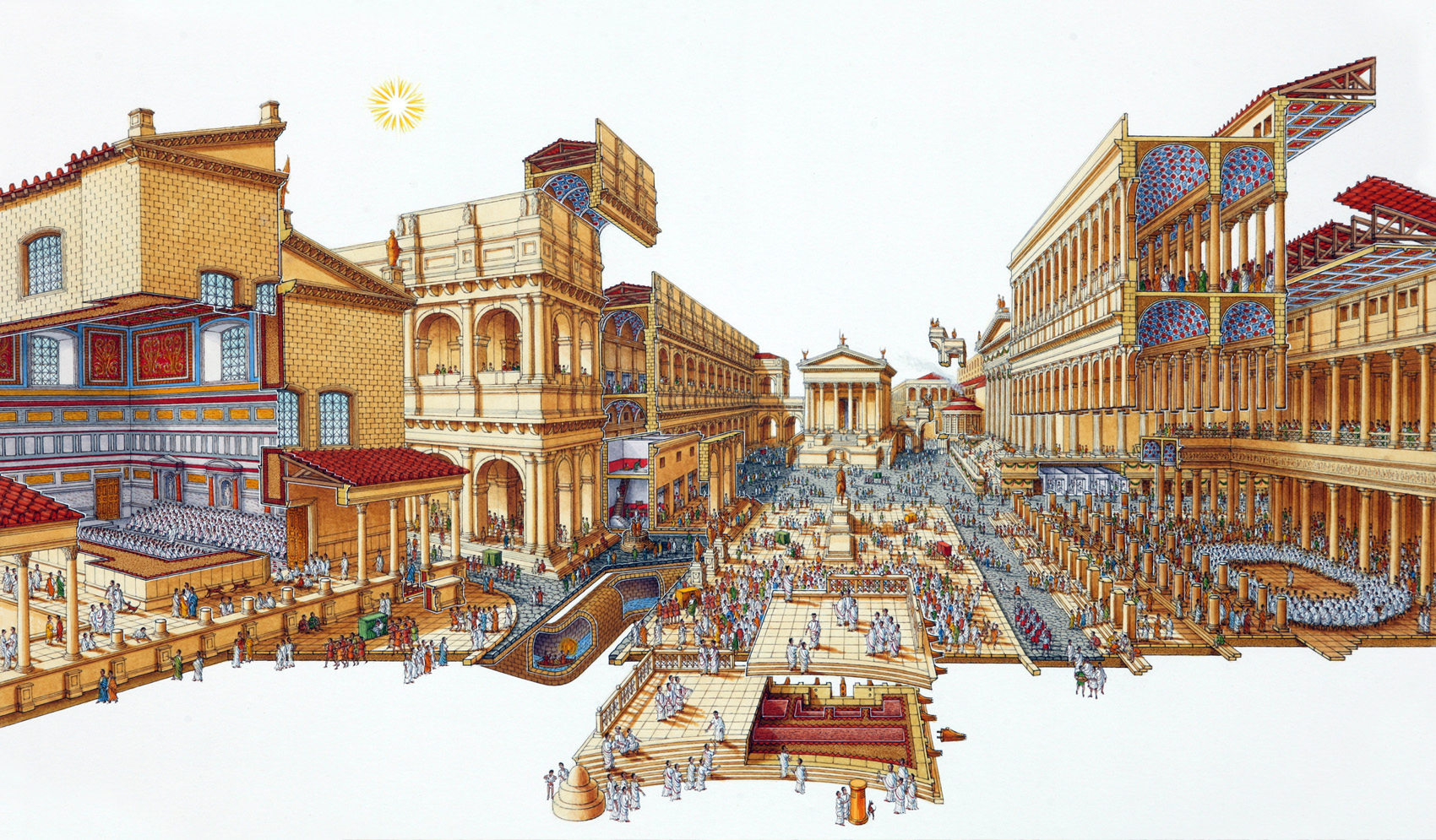 Stephen Biesty Illustrator Exploded Views Roman Forum
